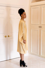 Sache Dress - Light Gold Crepe