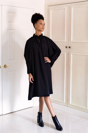 Sache Dress - Black Crepe
