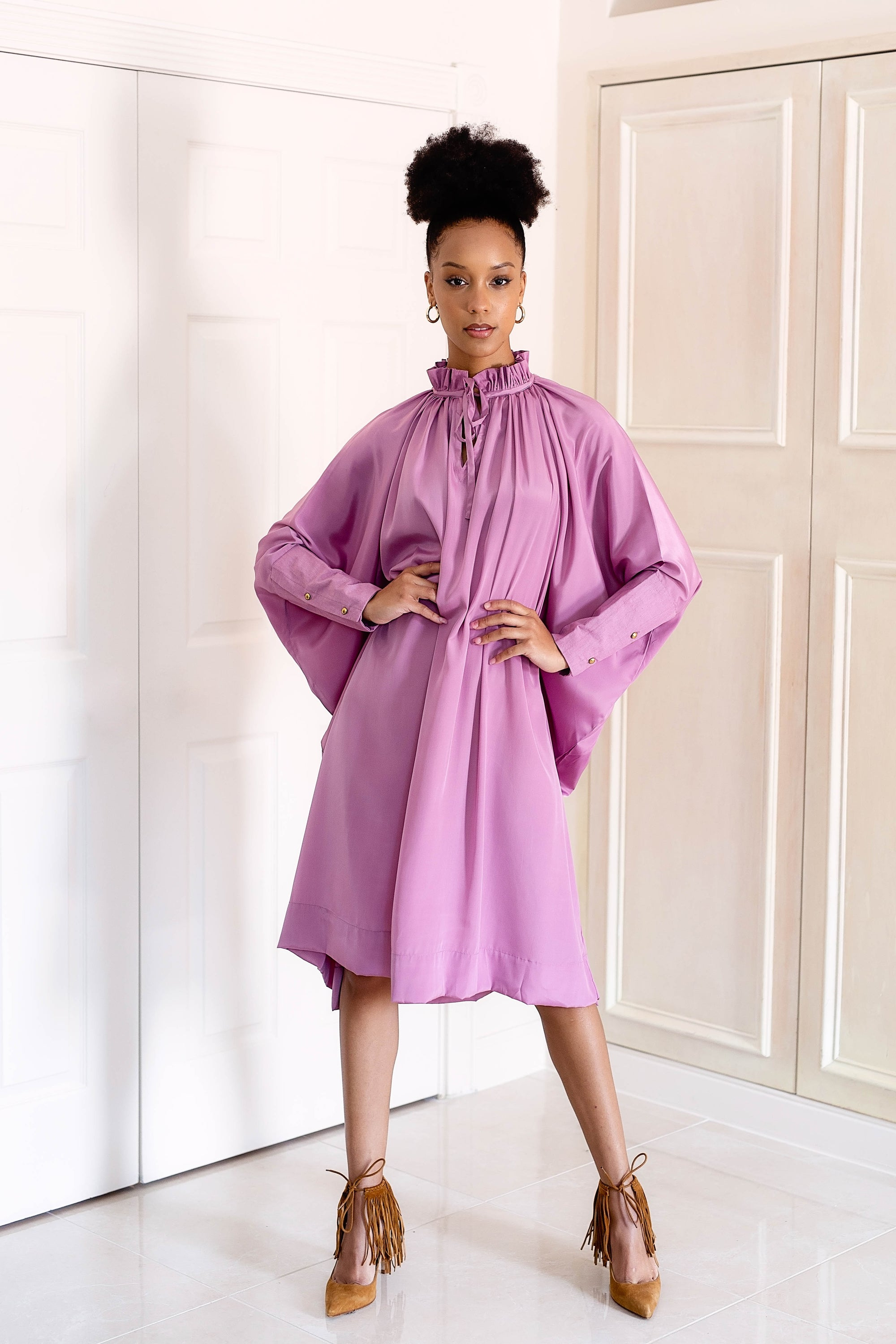 Sache Dress - Purple Crepe