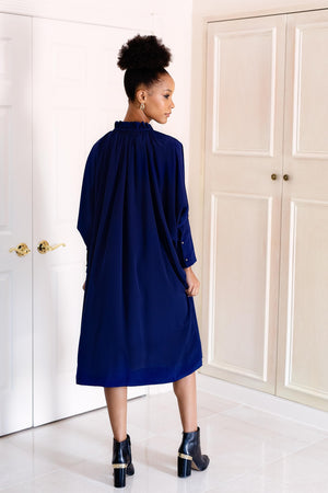 Sache Dress - Navy Crepe
