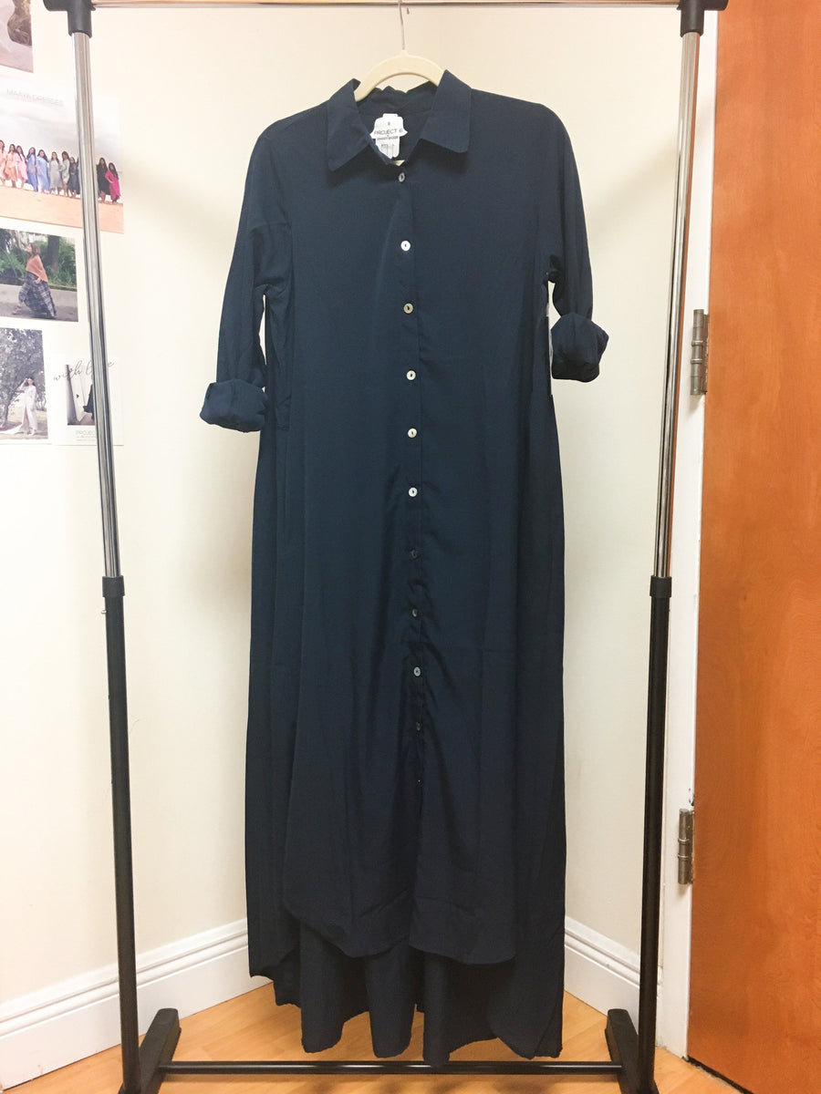 Maaya Long - Navy Crepe - PROJECT 6, modest fashion