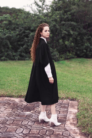 Oka Crepe - Black - PROJECT 6, modest fashion