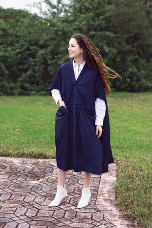 Oka Crepe - Navy - PROJECT 6, modest fashion