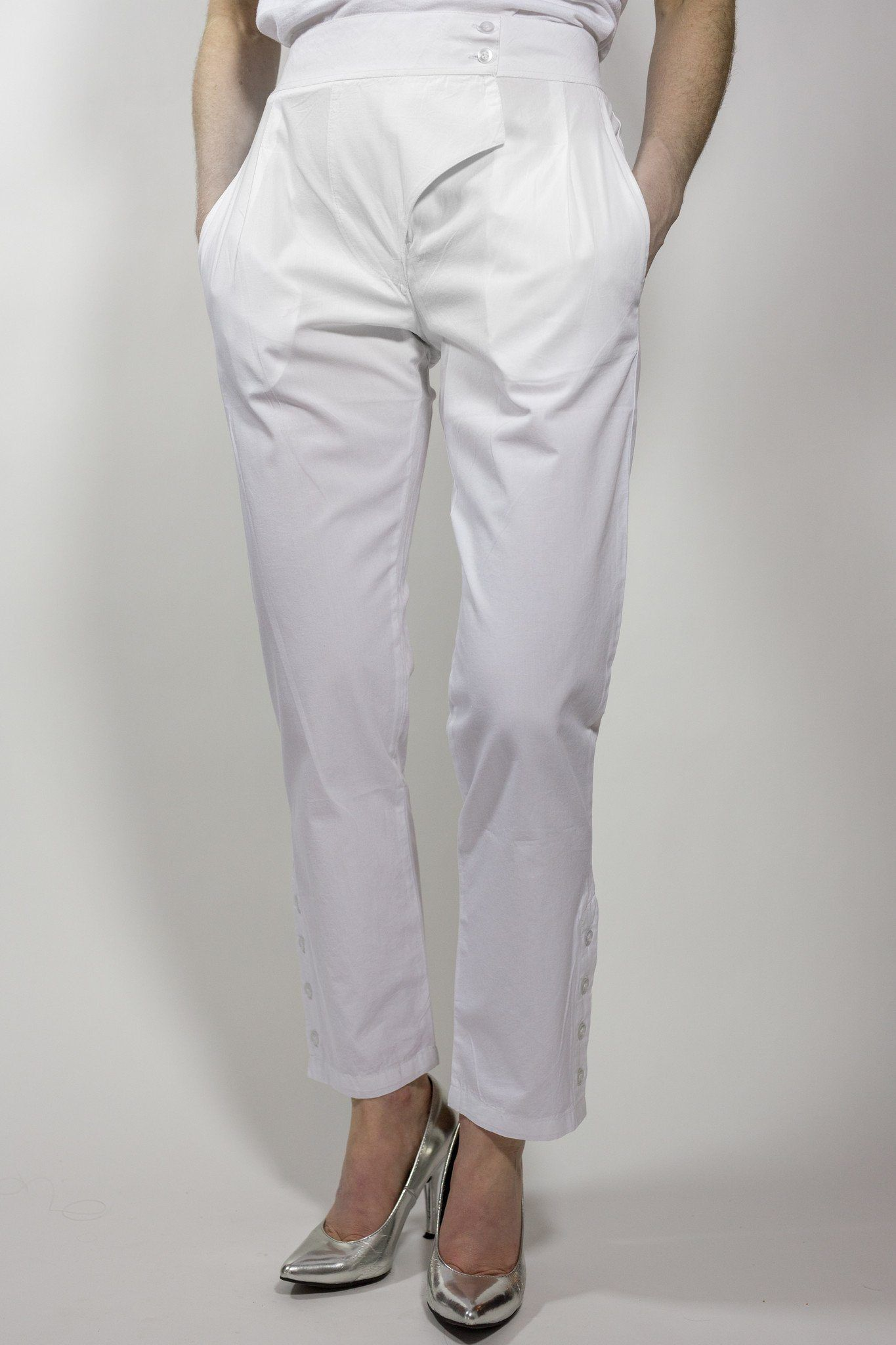 Kiku Pants - White - PROJECT 6, modest fashion