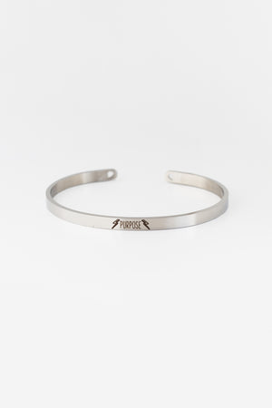 PURPOSE Bangle - Silver