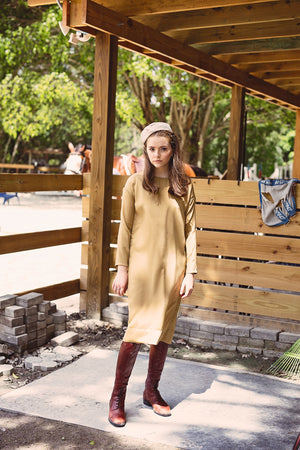 DALES - Gold French Crepe - PROJECT 6, modest fashion