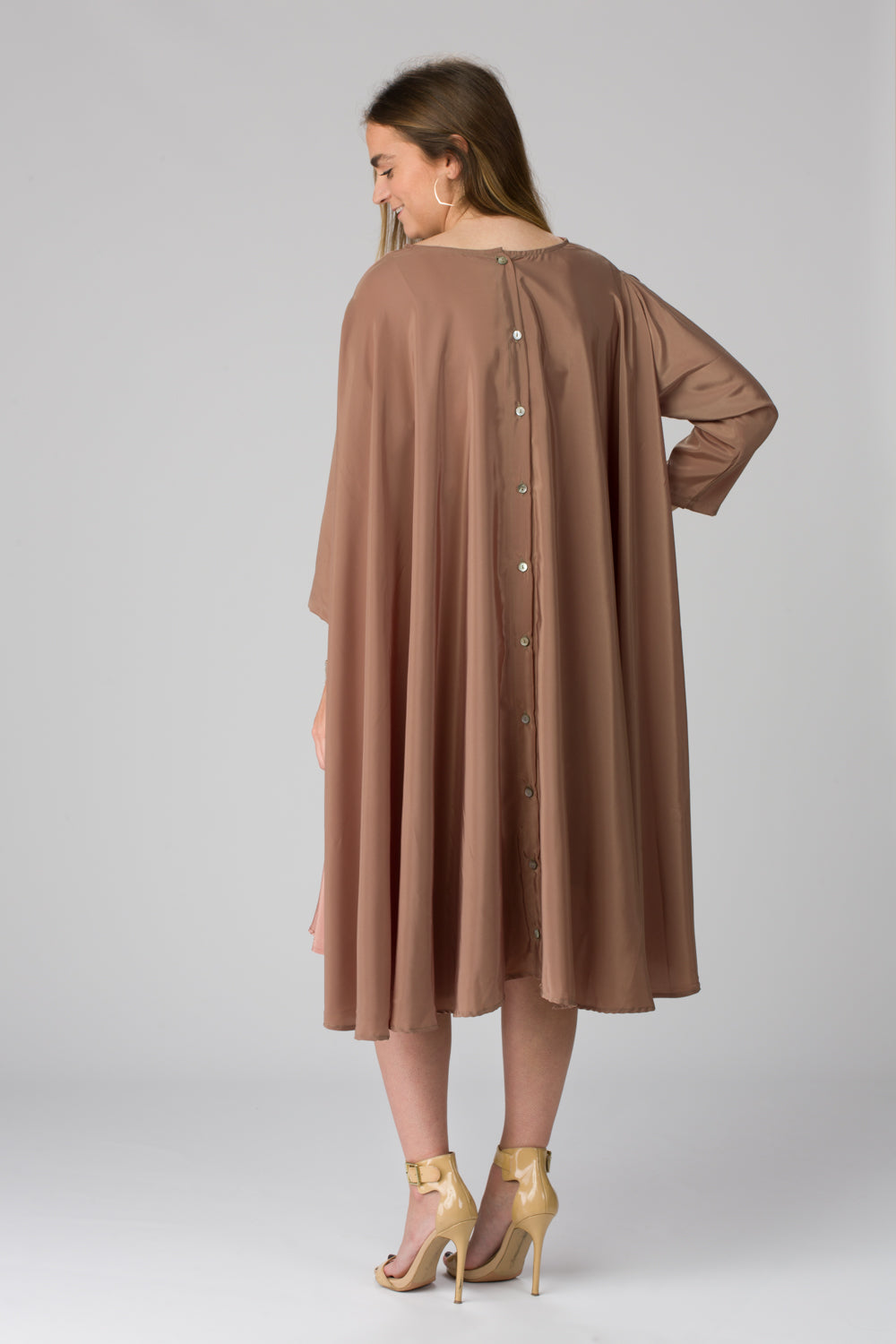 Shunka - Olive/Mauve Crepe - PROJECT 6, modest fashion