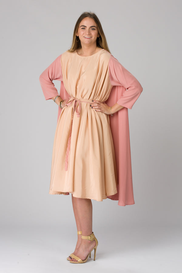 Shunka - Rose/Nude Crepe - PROJECT 6, modest fashion