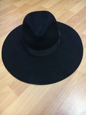 Black wide brim with black ribbon - PROJECT 6, modest fashion