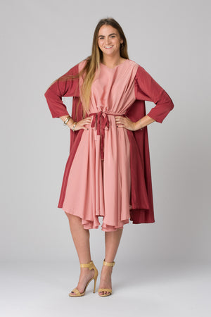 Shunka - Cranberry/Rose Crepe - PROJECT 6, modest fashion