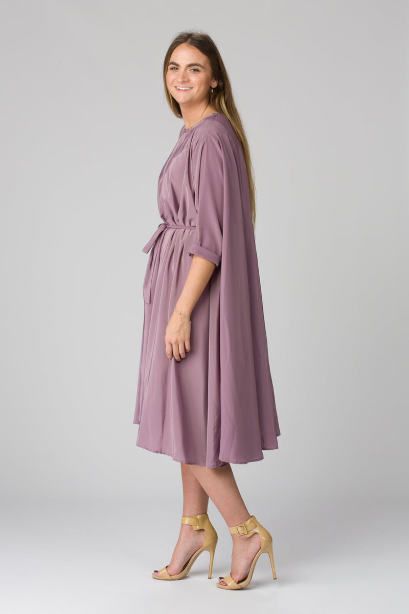 Shunka - Purple Mauve Crepe - PROJECT 6, modest fashion