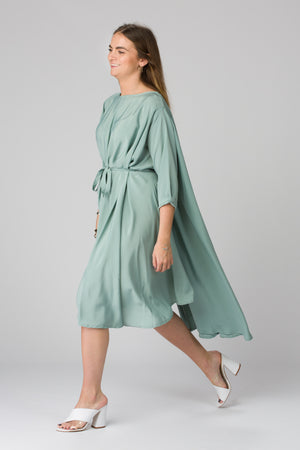 Shunka - Seafoam Crepe - PROJECT 6, modest fashion