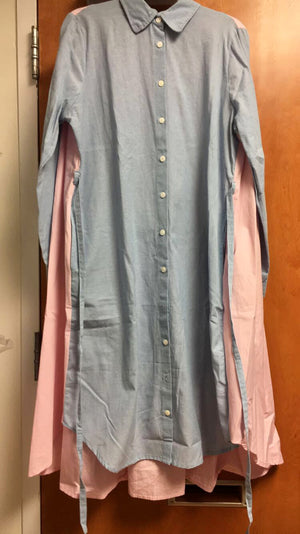Maaya Short - Chambray/Pink - XL - PROJECT 6, modest fashion