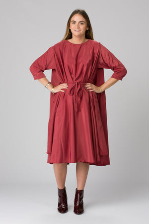 Shunka - Cranberry Crepe - PROJECT 6, modest fashion