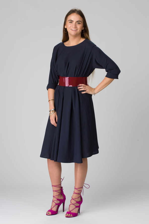 Shunka - Navy Crepe - PROJECT 6, modest fashion