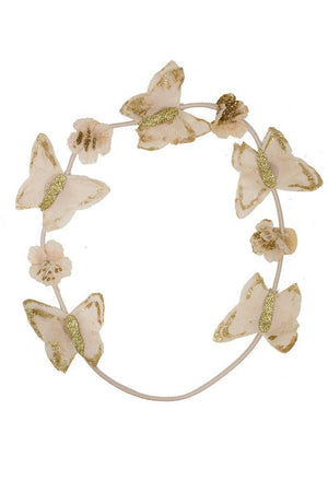 Butterfly Hair Wrap - Blush/Gold Glitter - PROJECT 6, modest fashion