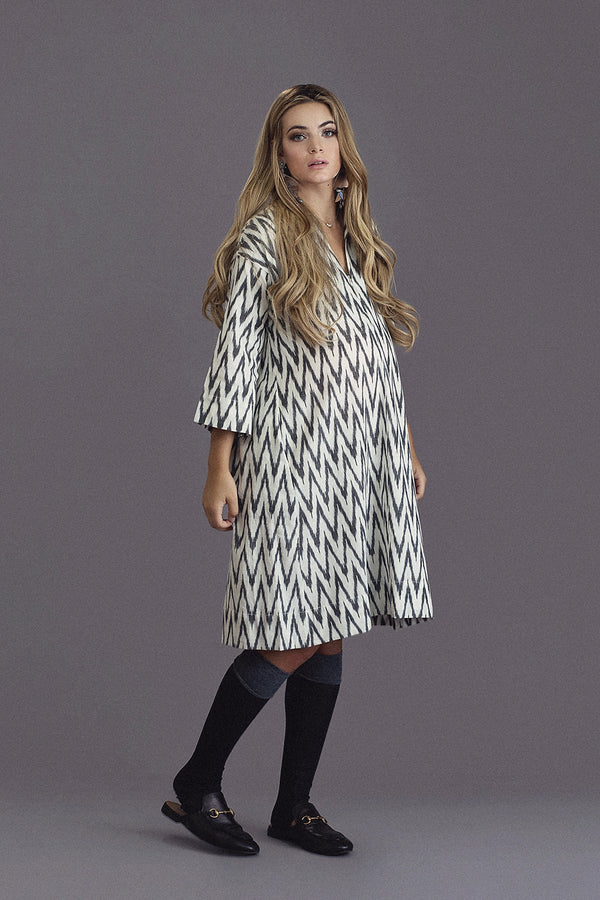 DAICHI - Black & Ivory Zig Zag - PROJECT 6, modest fashion