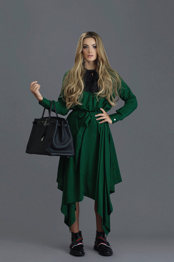 Botan - Hunter Green Crepe - PROJECT 6, modest fashion