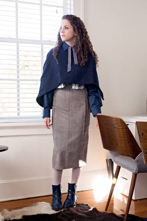 Shira Skirt - Grey Seude - PROJECT 6, modest fashion