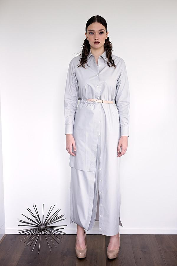 Etsuko - Light Grey Poplin - PROJECT 6, modest fashion