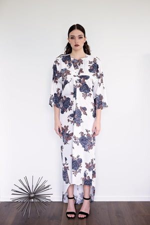 Kaede - Olive Floral - PROJECT 6, modest fashion