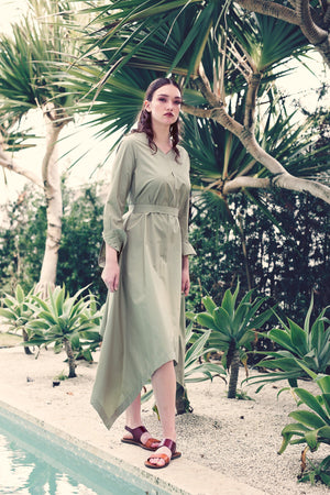 Botan - Light Olive Poplin - PROJECT 6, modest fashion