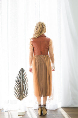 Kollee Overlay Midi - Nude Soft Tulle - PROJECT 6, modest fashion