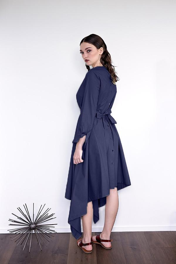 Botan - Navy Poplin - PROJECT 6, modest fashion