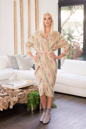 Miki - Light Colored Striped iKat - PROJECT 6, modest fashion