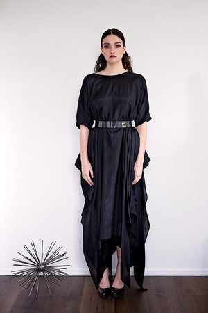Momo - Black Silk - PROJECT 6, modest fashion