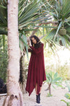 Botan - Burgundy Crepe - PROJECT 6, modest fashion