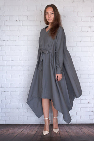 Botan - Charcoal Poplin - PROJECT 6, modest fashion