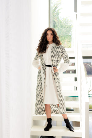 AKANI - Black & Ivory Zig Zag - PROJECT 6, modest fashion