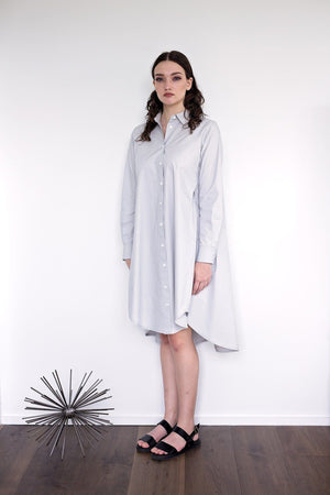 Maaya Short Length - Light Grey Poplin - PROJECT 6, modest fashion