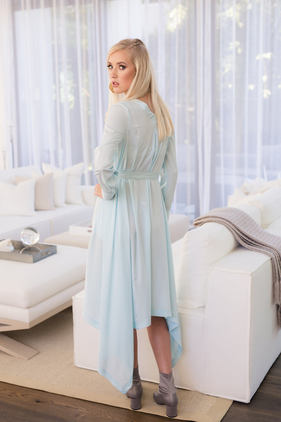 Botan - Light Blue Crepe - PROJECT 6, modest fashion