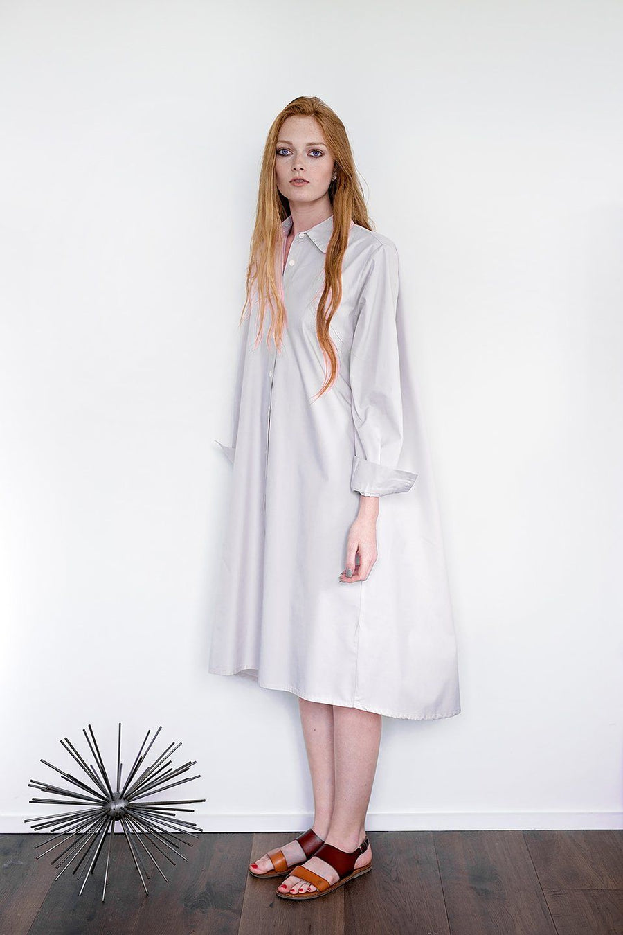 Maaya Medium - Light Grey Poplin - PROJECT 6, modest fashion