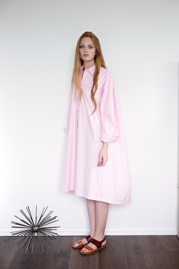 Maaya Medium Length - Ballerina Pink Poplin - PROJECT 6, modest fashion