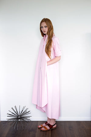 Maaya Long - Ballerina Pink Poplin - PROJECT 6, modest fashion