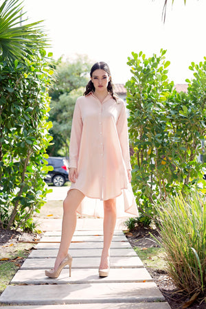 Maaya Short - Blush Crepe - PROJECT 6, modest fashion