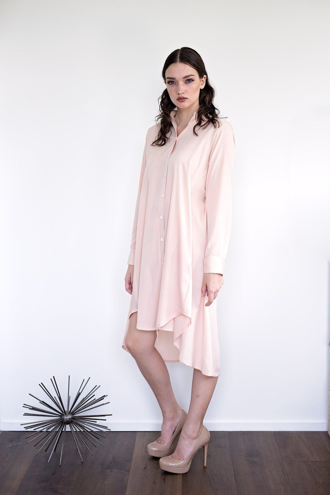 Maaya Short Length - Blush Crepe - PROJECT 6, modest fashion