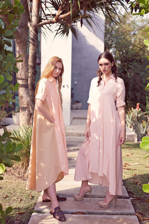 Maaya Long - Blush Crepe - PROJECT 6, modest fashion