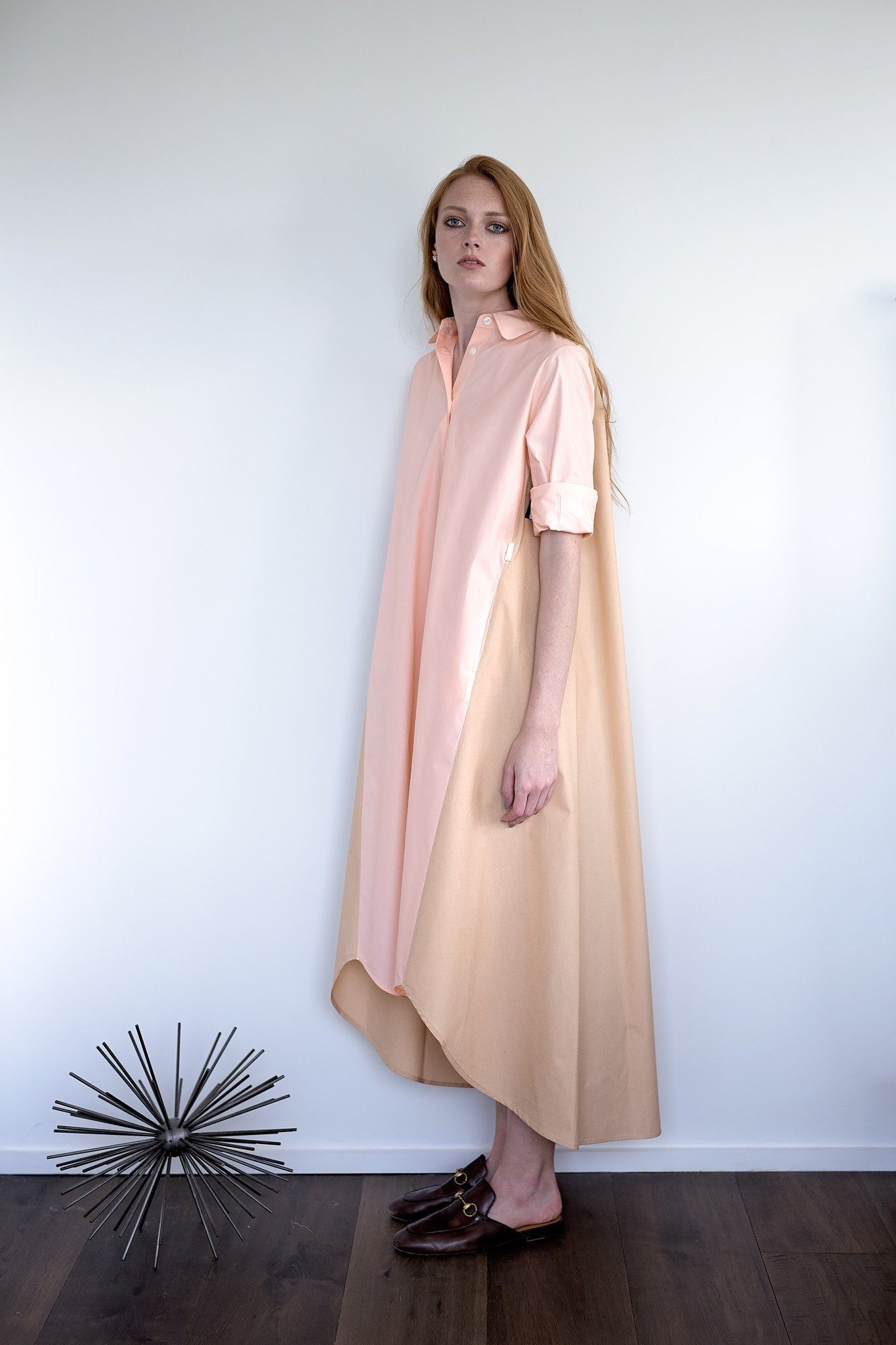 Maaya Long Length - Hazelnut/Blush Poplin - PROJECT 6, modest fashion