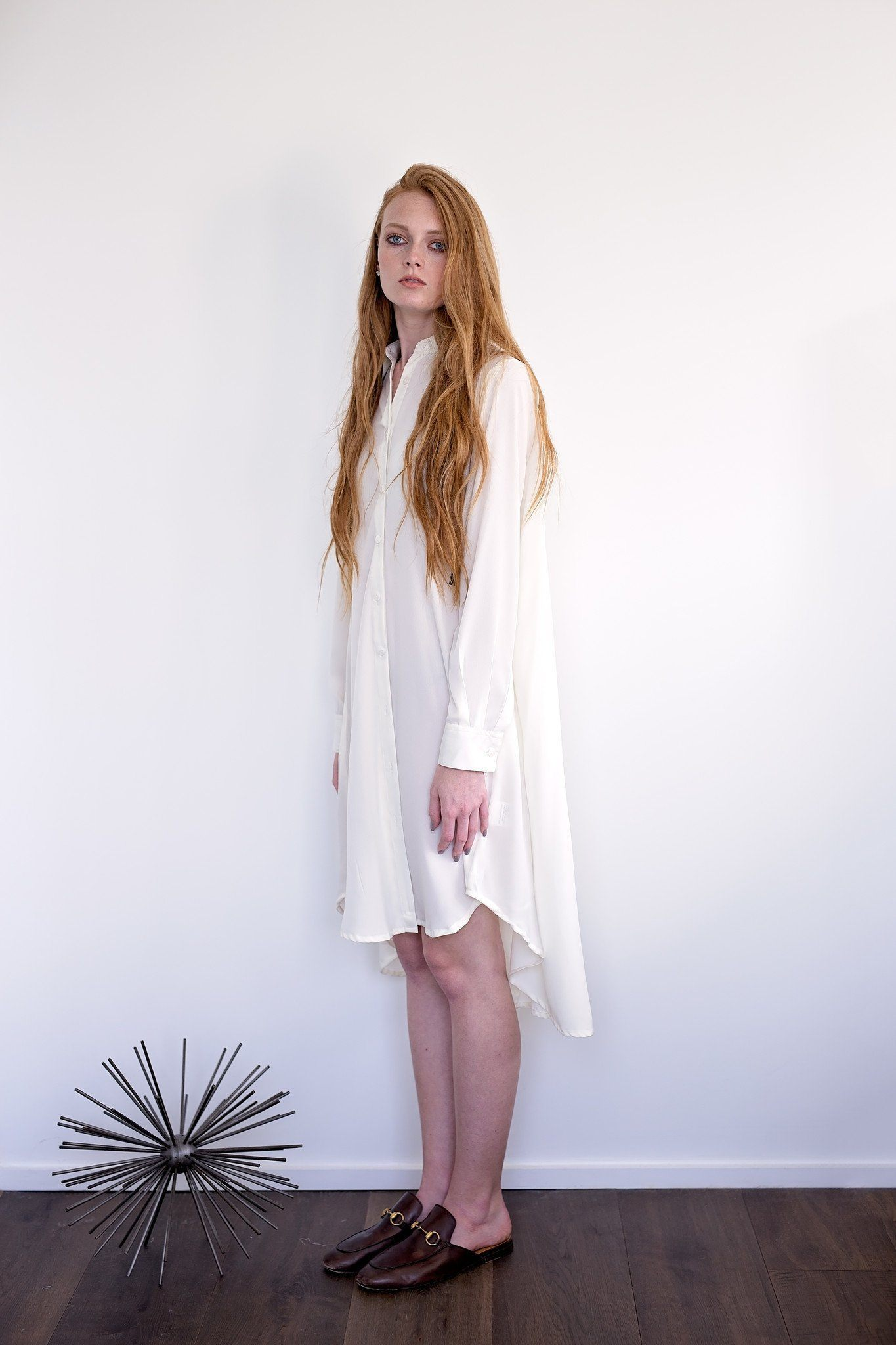 Maaya Short Length - Ivory Crepe - PROJECT 6, modest fashion