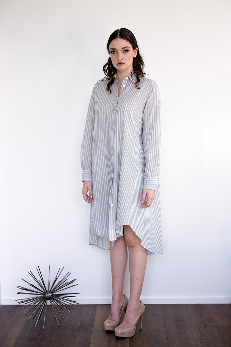 Maaya Short Length - Blue/Stripe - PROJECT 6, modest fashion