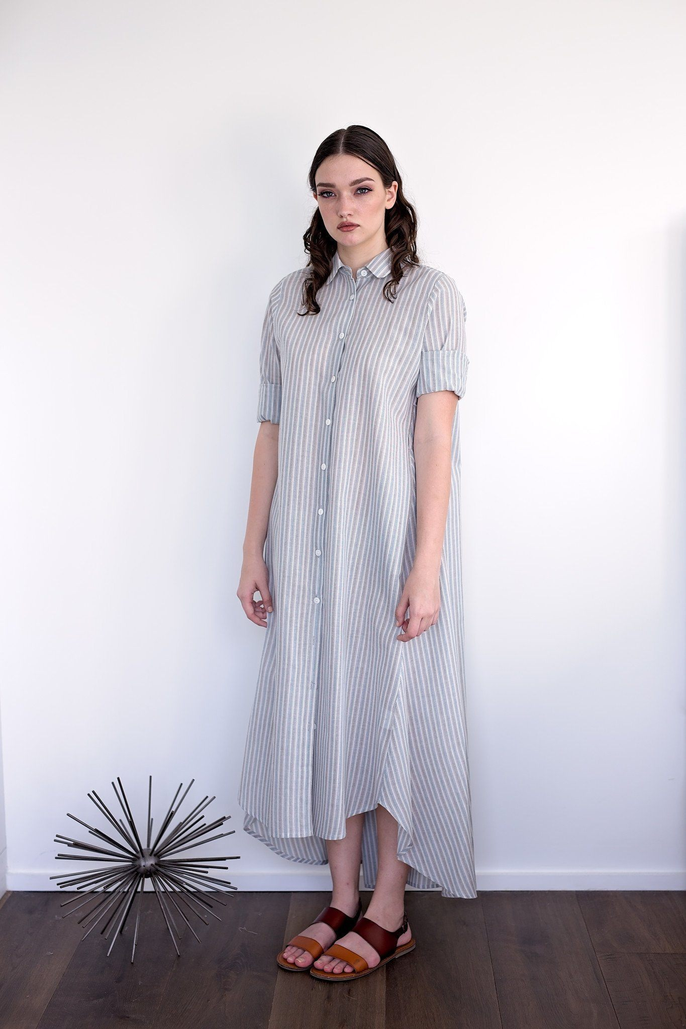 Maaya Long Length - Blue/Stripe - PROJECT 6, modest fashion