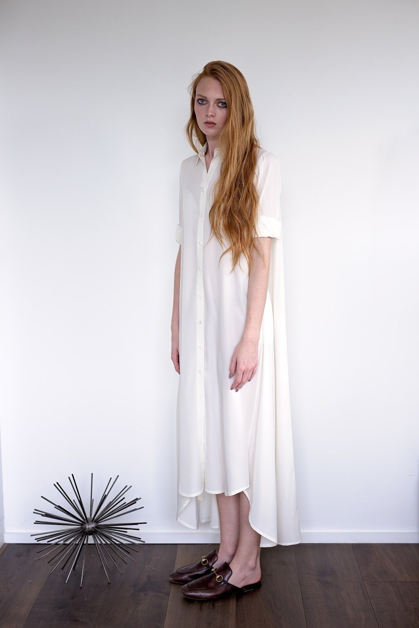 Maaya Long Length - Ivory Crepe - PROJECT 6, modest fashion