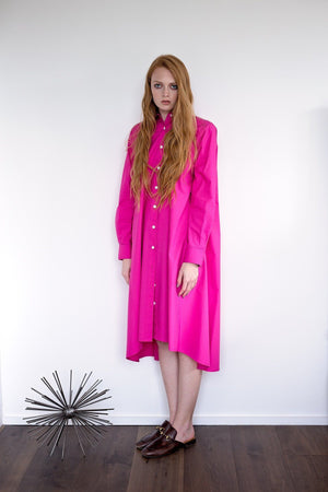 Maaya Medium - Hot Pink Poplin - PROJECT 6, modest fashion