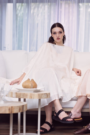 Shunka - Ivory Silk - PROJECT 6, modest fashion