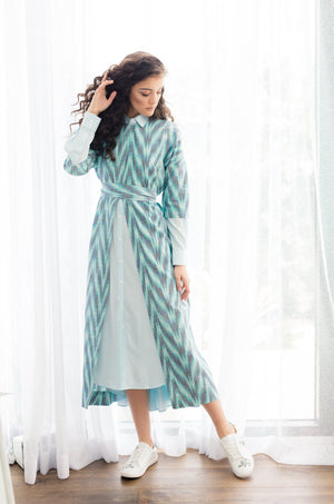 AKANI - Teal/Navy/Black Zig Zag - PROJECT 6, modest fashion