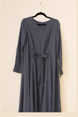 Swing Dress - Charcoal Crepe